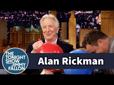 Alan Rickman And Jimmy Fallon Chat While Breathing In Helium