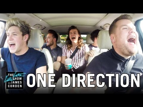 James Corden Live Karaoke With One Direction